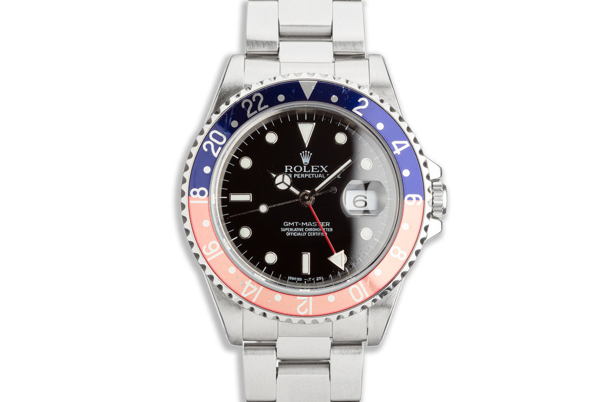 1996 Rolex GMT-Master 16700 Transitional Luminova Dial with Box and Papers photo, #0