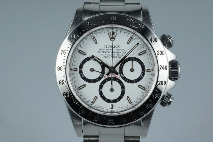 1990 Rolex Zenith Daytona 16520 White Dial with Box and Papers photo