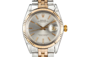 1968 Rolex Two-Tone DateJust 1601 Grey Dial photo