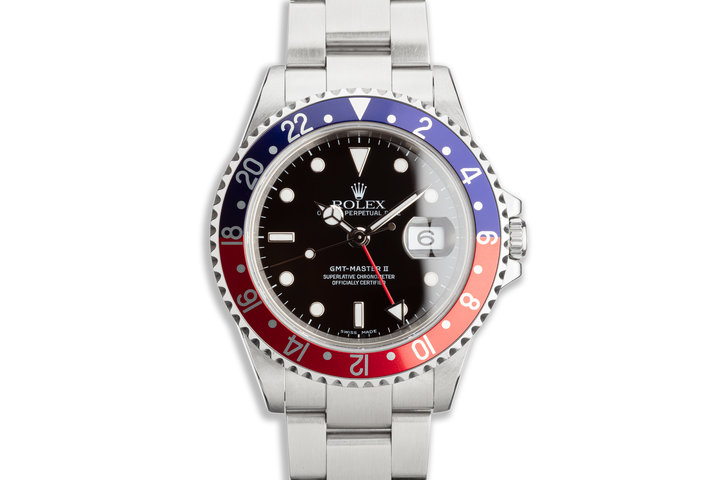 "2006 Rolex GMT-Master II 16710 T ""Pepsi"" with Box and Papers photo"