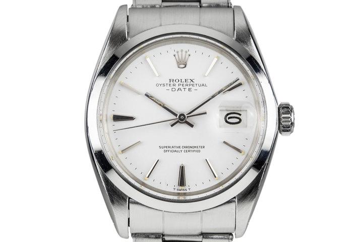 1969 Rolex Date 1500 White Dial photo
