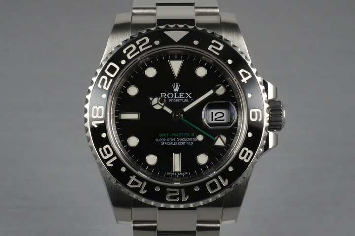 2012 Rolex GMT II 116710LN with Box photo