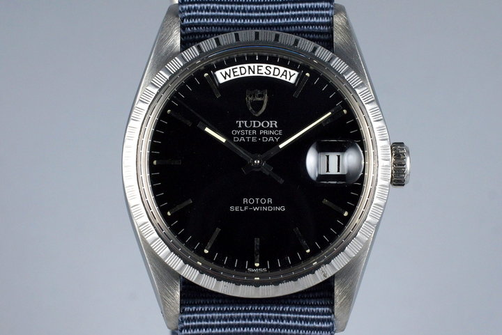 Late 1980's Tudor Date-Day 94510 Glossy Black Dial with Tudor Service Papers photo