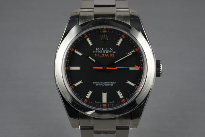 2007 Rolex Milgauss Black Dial 116400 MINT with Box and Papers photo