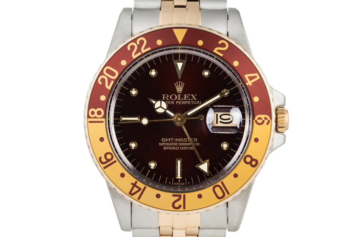 1980 Rolex Two Tone GMT 16753 Root Beer Dial photo