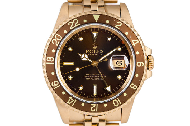 1984 Rolex YG Root Beer GMT 16758 photo