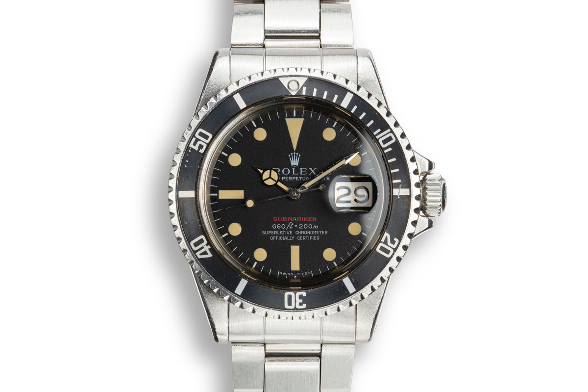 1970 Rolex Red Submariner 1680 MK IV with Box and Papers photo, #0