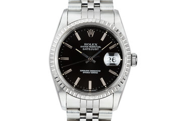 2002 Rolex DateJust 16220 Black Dial photo