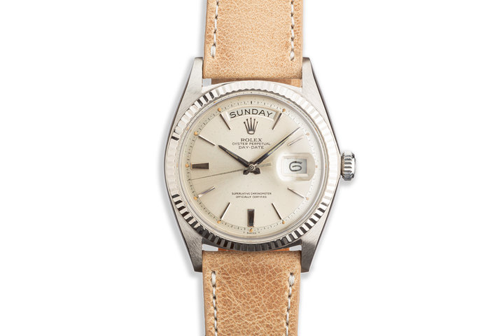 1963 Vintage Rolex 18k WG Day-Date 1803 on Leather Strap photo