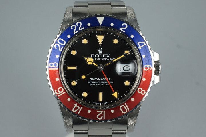 1986 Rolex GMT Master 16750 photo