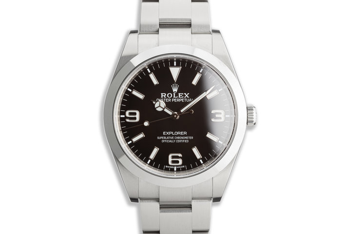 2019 Rolex Explorer 214270 39mm Mark II Dial with Box and Card photo