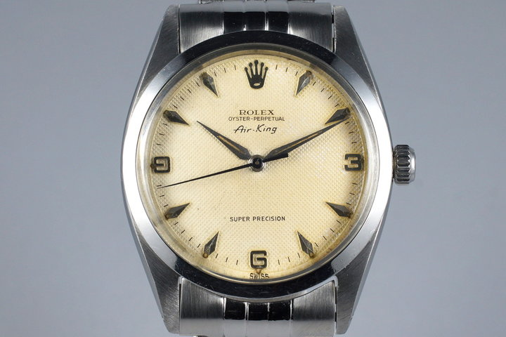 1958 Rolex Air-King 5504 Cream Waffle Dial with RSC Papers from England photo