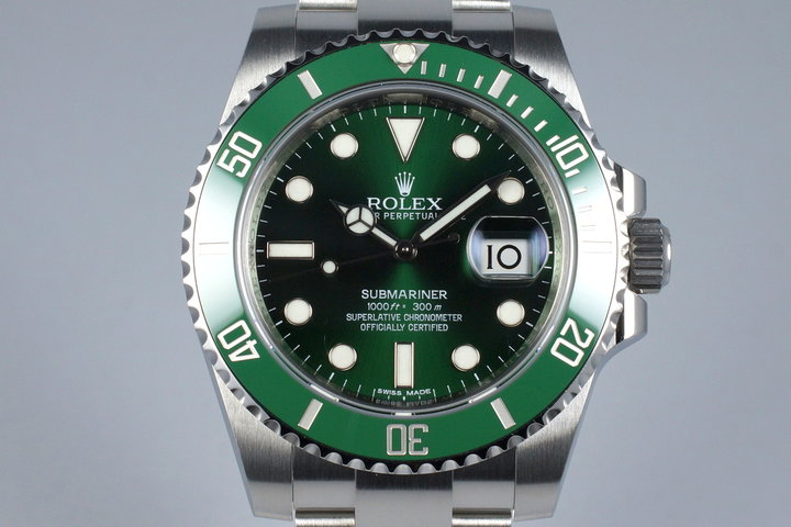 2015 Rolex Green Submariner 116610LV with Box and Papers photo