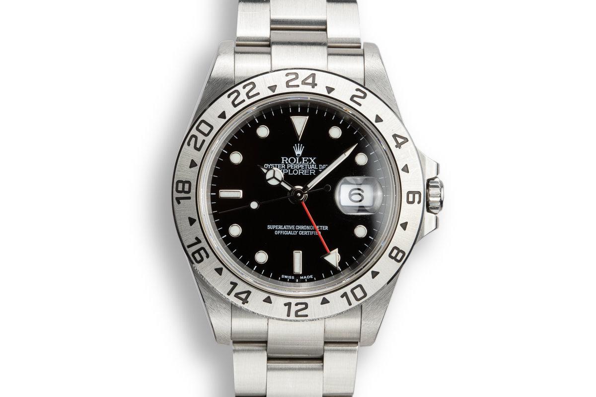 2003 Rolex Explorer II 16570 Black Dial photo, #0