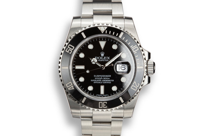 Mint 2015 Rolex Submariner 116610LN in Factory Stickers with Box and Papers photo