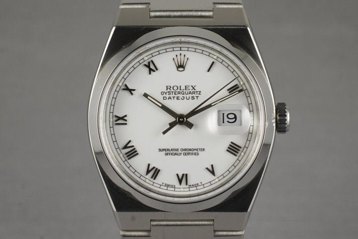 1991 Rolex OysterQuartz DateJust 17000 with Box and Papers photo
