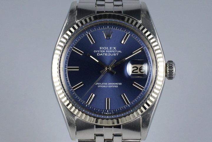 1971 Rolex DateJust 1601 Non-Luminous Blue Dial photo