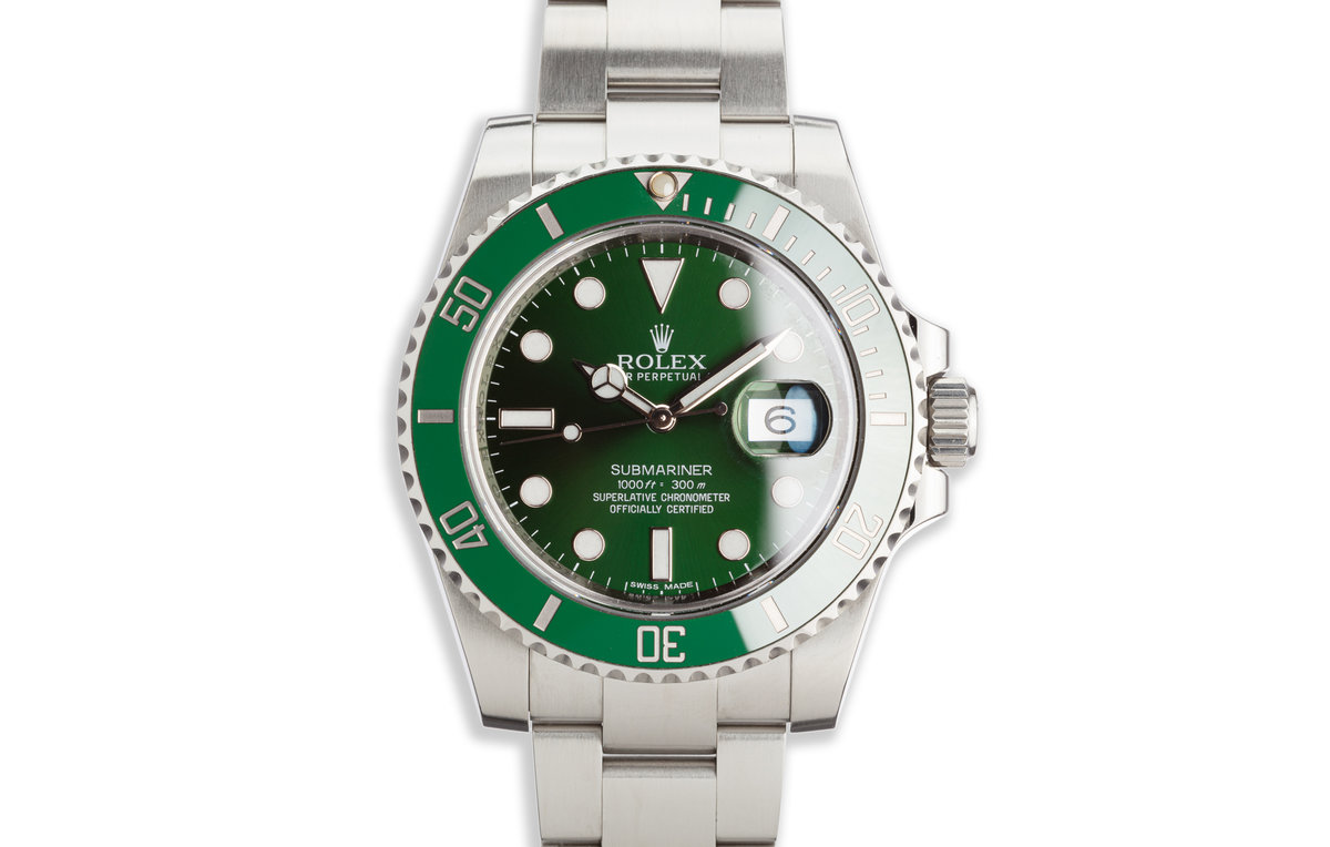 """2013 Rolex Green Submariner 116610LV """"Hulk"""" with Box and Card photo, #0"""