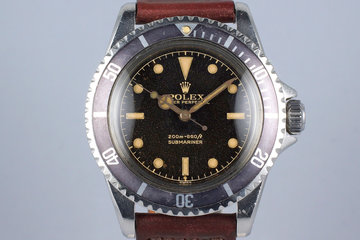 1961 Rolex Submariner 5512 PCG with Tropical Brown Gilt Chapter Ring 2 Line Dial photo