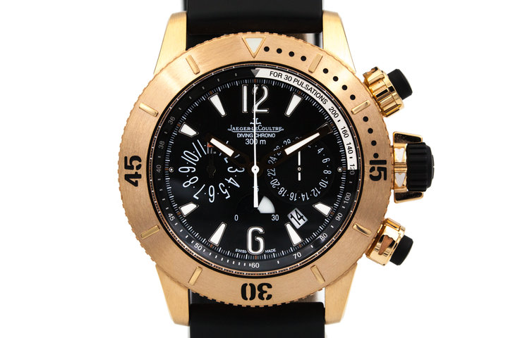 2015 Jaeger LeCoultre Rose Gold Diving Chrono Q1862640 with Box and Papers photo