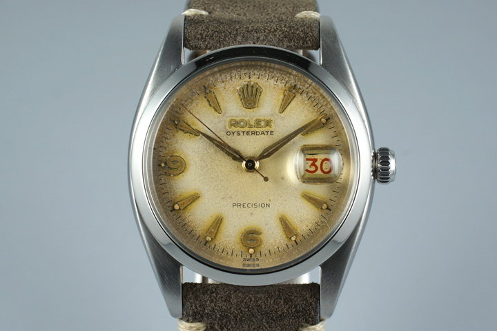 1954 Rolex OysterDate 6494 with Tropical Dial photo