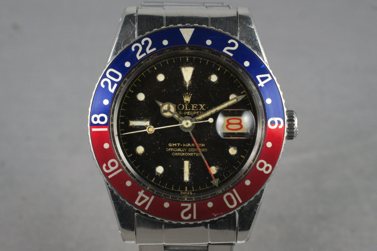 1958 Rolex GMT 6542 Glossy Gilt Chapter Ring with Service Papers photo, #0