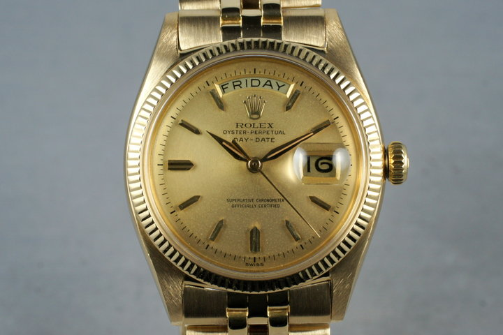1958 Rolex 18K Day-Date 6611B with Service Papers photo