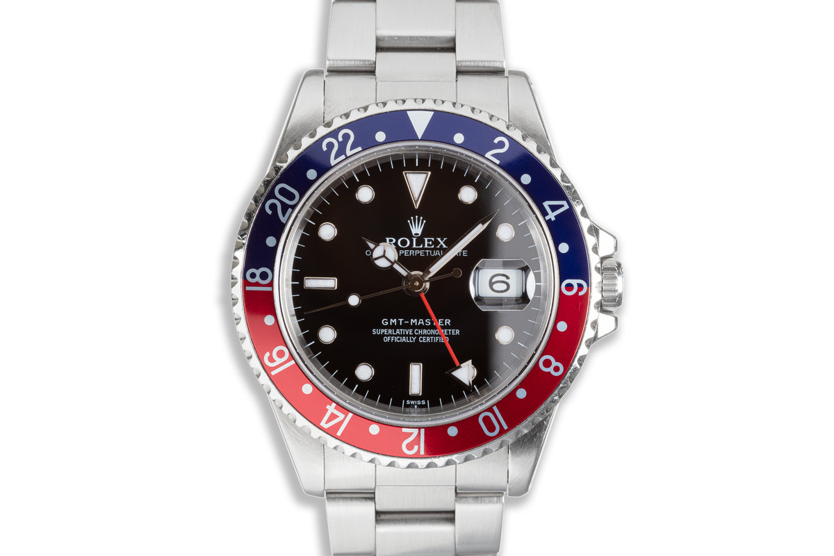 """1998 Rolex GMT-Master 16700 """"Swiss"""" Only Dial photo, #0"""