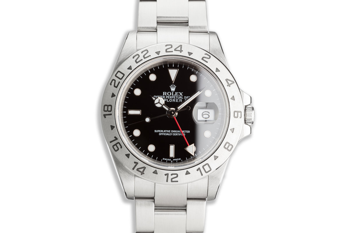 2002 Rolex Explorer II 16570 Black Dial photo, #0