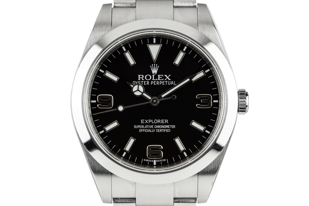 2014 Rolex Explorer 214270 with Box and Papers photo, #0