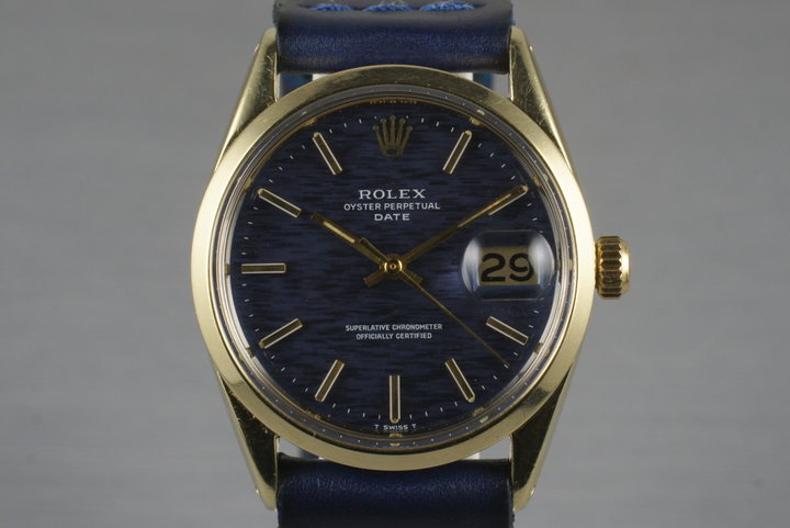 1972 Rolex 14K Gold Shell Date 1550 photo