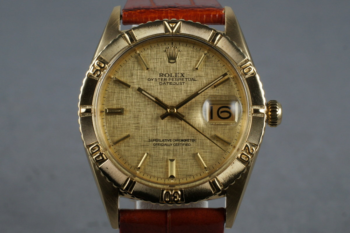 1979 Rolex 18K YG DateJust Thunderbird 1625 photo, #0
