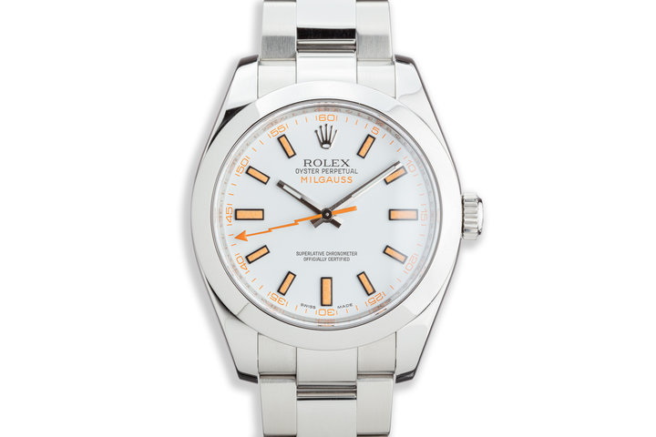2009 Rolex Milgauss 116400 White Dial photo