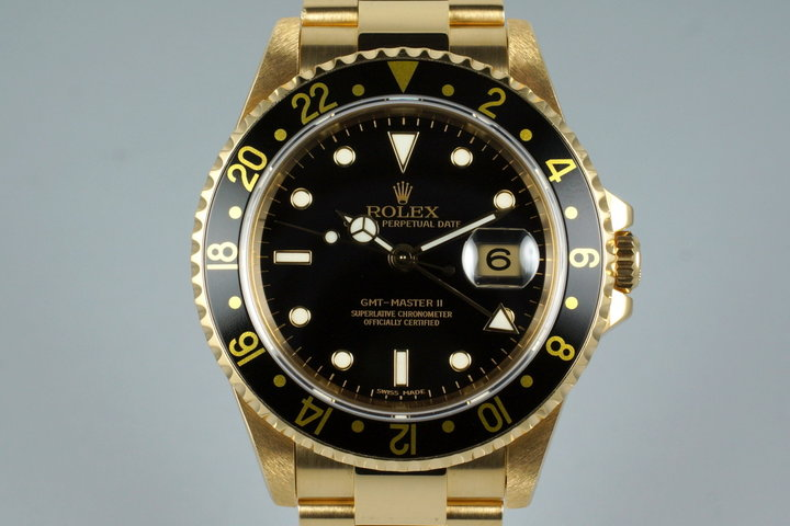 1994 Rolex YG GMT II 16718 with Box and Papers photo