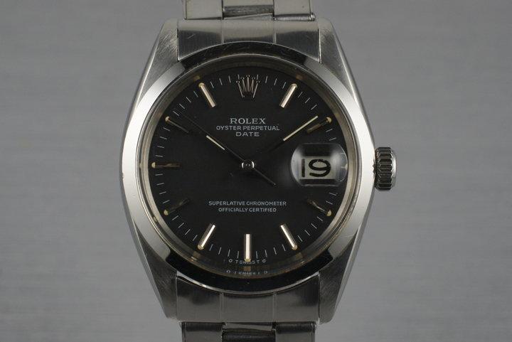 1968 Rolex Date 1500 Black Sigma Dial photo