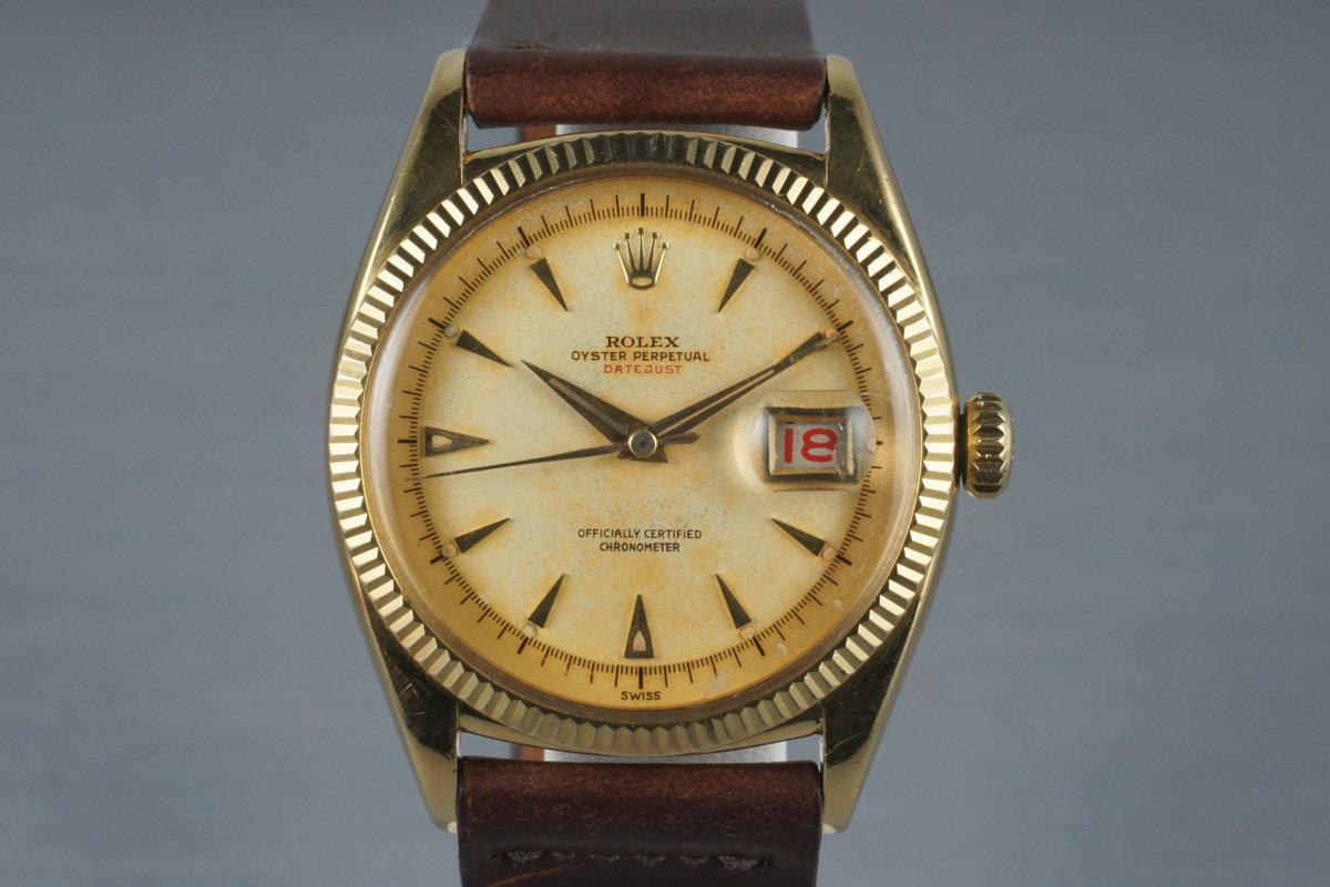 1954 Rolex 18K YG Datejust 6305-1 photo, #0