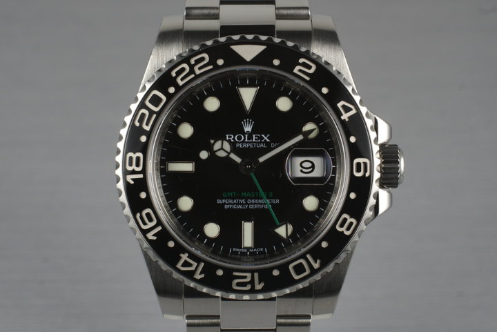 2007 Rolex GMT II 116710N with Box and Papers photo