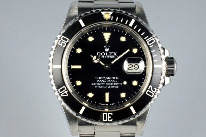 1988 Rolex Submariner 168000 with RSC Papers photo