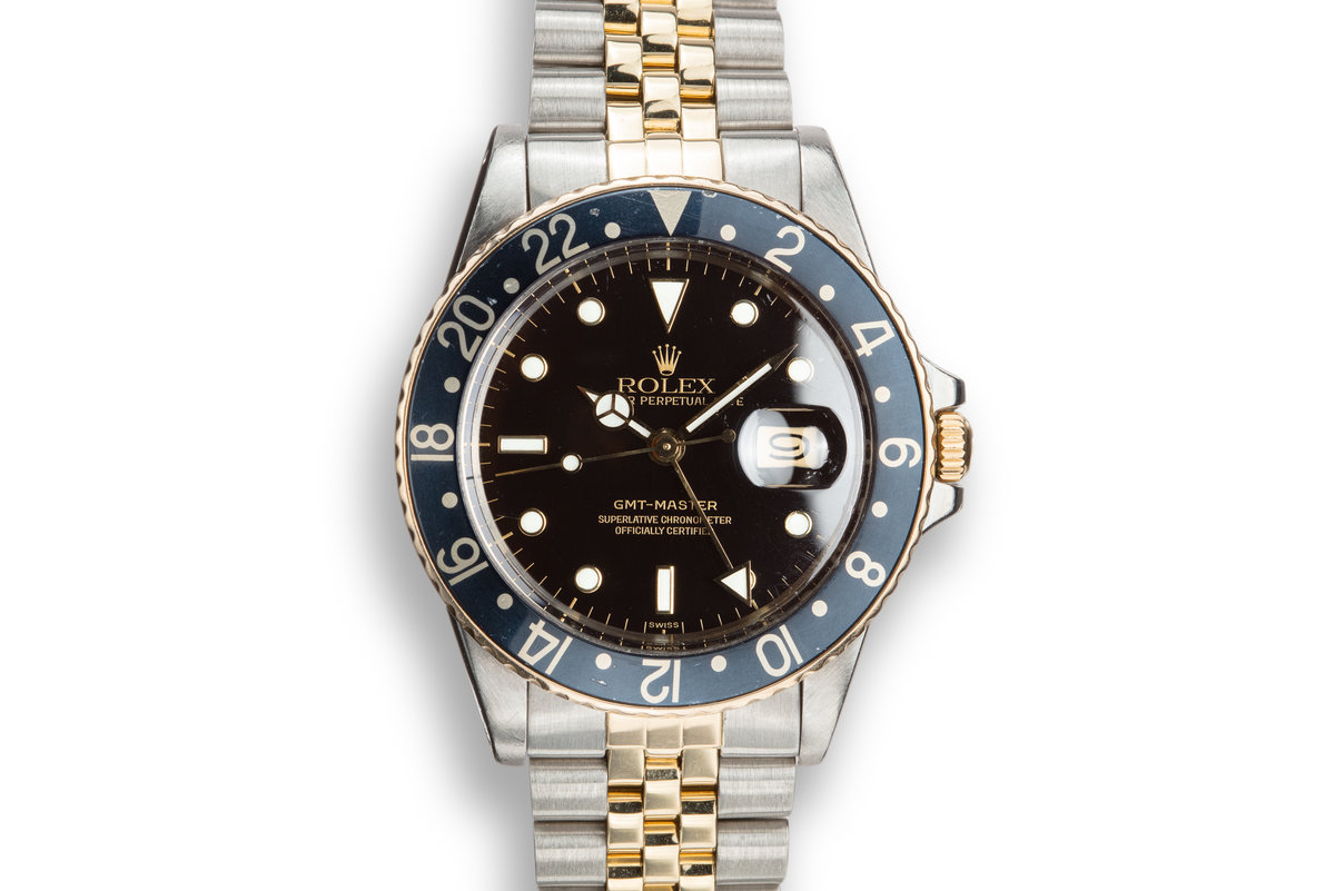1982 Rolex Two-Tone GMT-Master 16753 with Luminova Service Dial photo, #0