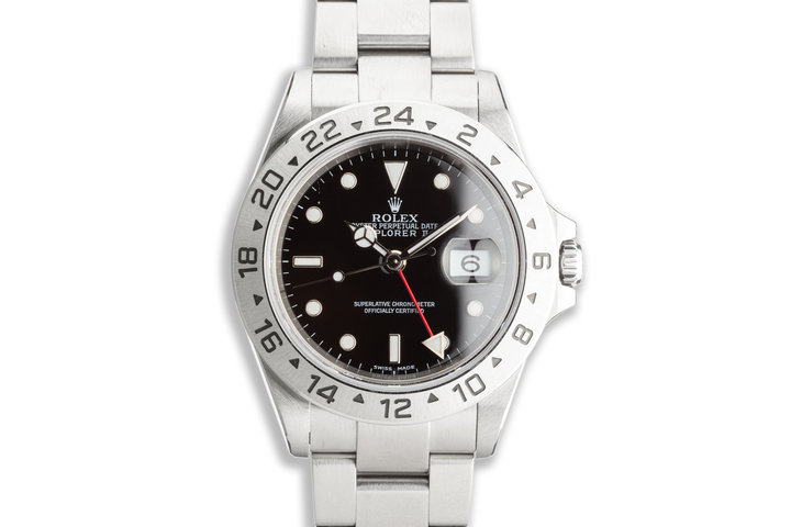 2004 Rolex Explorer II 16570 Black Dial with Box & Papers photo