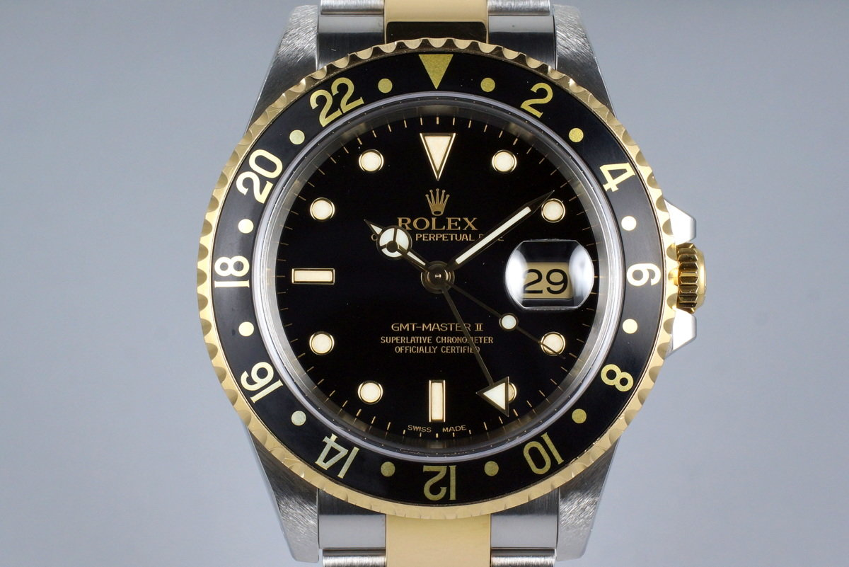 2000 Rolex Two Tone GMT II 16713 Box and Papers photo, #0