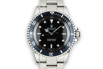 "1989 Rolex Submariner 5513 Glossy Dial ""L serial"" photo"