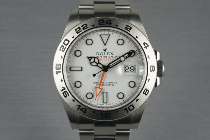 2011 Rolex Explorer II 216570 with Box and Papers photo