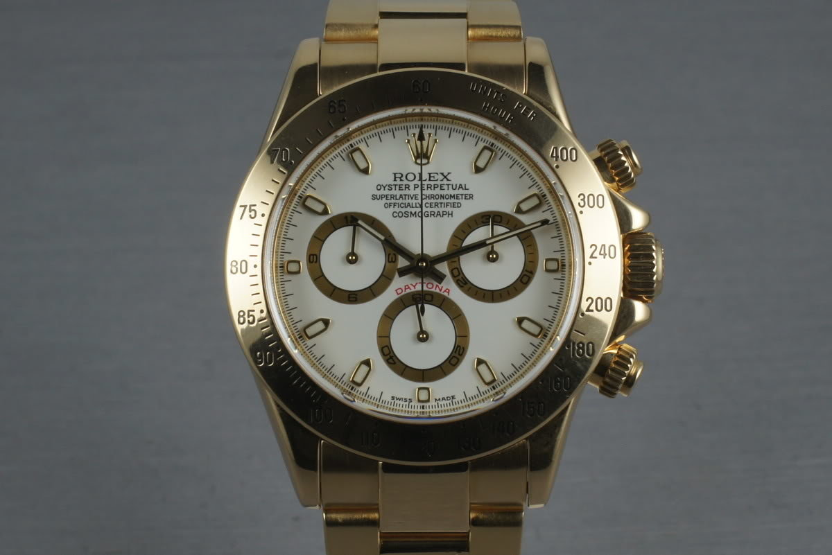 Rolex 18K Daytona 116528 with White Dial and Box and Papers photo, #0