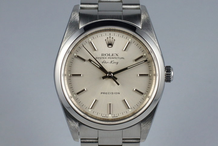 1999 Rolex Air-King 14010 Silver Dial photo