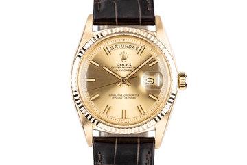 """1970 Rolex 18K YG Day-Date 1803 """"Wide Boy"""" photo"""