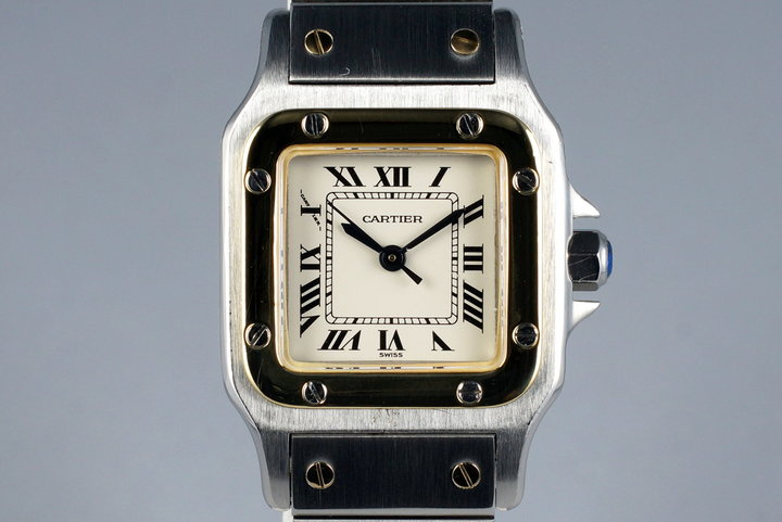 Cartier Ladies Two Tone Santos Automatic 60047 photo