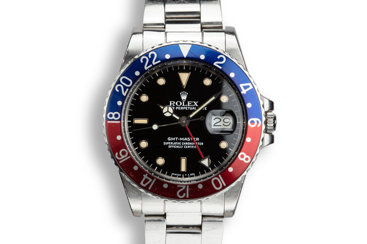 1985 Rolex GMT-Master II 16750 Glossy Dial with Box and Papers photo