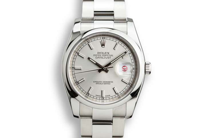 2007 Rolex DateJust 116200 Silver Dial photo