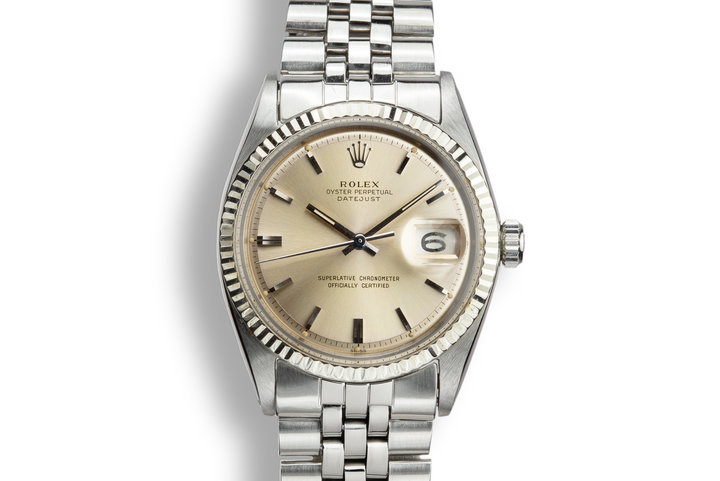 1963 Rolex DateJust 1601 SWISS Only Silver Dial with Papers photo